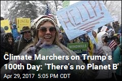 Marchers Use Trump's 100th Day to Protest Climate Policies