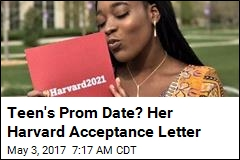 Teen's Prom Date? Her Harvard Acceptance Letter