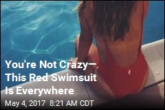 You're Not Crazy— This Red Swimsuit Is Everywhere
