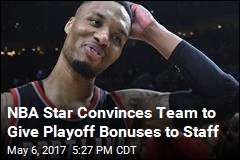 NBA Star Convinces Team to Give Playoff Bonuses to Staff