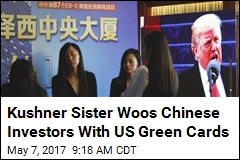 Kushner Sister Woos Chinese Investors With US Green Cards