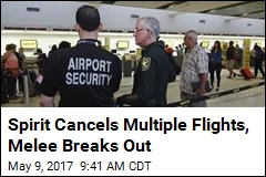 Cops Break Up Melee as Spirit Cancels Multiple Flights
