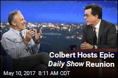 Jon Stewart Backs Colbert's 'Potty Mouth'