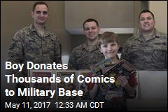 Boy, 10, Donates 3K Comic Books to Military Base
