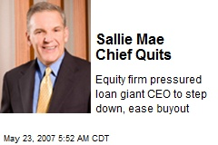 Sallie Mae Chief Quits