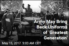 Army May Bring Back Vintage Uniforms