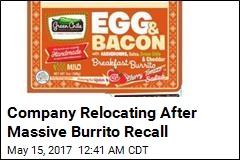 Company Relocating After Massive Burrito Recall