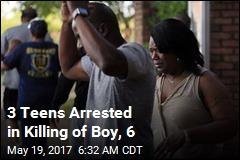 3 Teens Arrested in Killing of Boy, 6