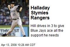 Halladay Stymies Rangers