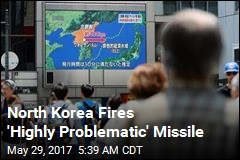 North Korea Missile Lands in Japanese Waters