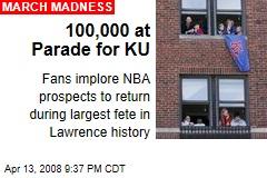 100,000 at Parade for KU