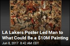 How an LA Lakers Poster Led to a 'Lost' Jackson Pollock
