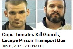 Cops: Inmates Kill Guards, Escape Prison Transport Bus