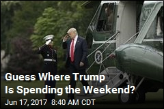 Trump Having 'Very Rustic' Weekend for First Time