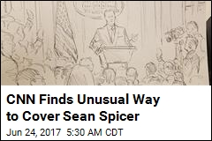 CNN Finds Unusual Way to Cover Sean Spicer