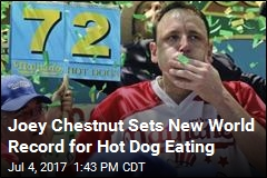 Joey Chestnut Sets New World Record for Hot Dog Eating