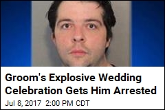 Groom Celebrates His Wedding, Gets Busted for It