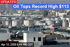 Oil Tops Record High $113
