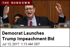 Democrat Files Trump Impeachment Articles