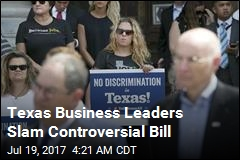 Business Leaders Slam Texas 'Bathroom Bill'