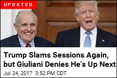 As Trump Slams Sessions Again, a New Name Emerges