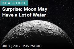 Lots of Water May Lie Below Moon's Surface