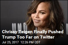 Chrissy Teigen: 5 Words Got Me Twitter-Blocked by Trump
