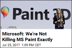 Microsoft: We're Not Killing MS Paint Exactly