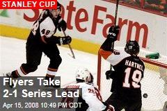Flyers Take 2-1 Series Lead