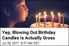 Blowing on That Birthday Cake Is Pretty Much a Germ Party