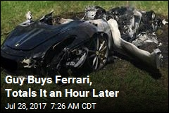 Guy Buys Ferarri, Totals It an Hour Later