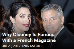 Clooney Blasts Mag Over First Pics of Twins