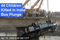 44 Children Killed in India Bus Plunge