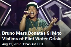Bruno Mars Donates $1M to Victims of Flint Water Crisis