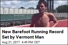 Runner Sets New Barefoot World Record at Vermont Track
