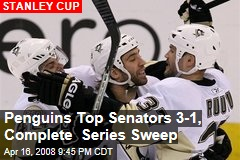 Penguins Top Senators 3-1, Complete Series Sweep
