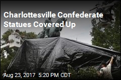 Charlottesville Confederate Statues Covered With Black Tarp