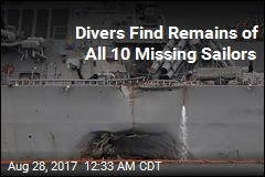 Divers Find Remains of All 10 Missing Sailors