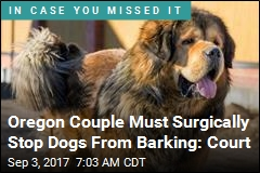 Court: Oregon Couple Must Have Dogs' Vocal Cords Cut