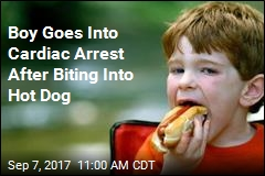Boy Goes Into Cardiac Arrest After Biting Into Hot Dog