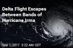 Delta Flight Narrowly Beats Hurricane Irma