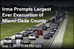 Irma Prompts Largest Ever Evacuation of Miami-Dade County