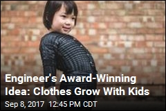 Student Designs Clothes That Grow Along With Kids