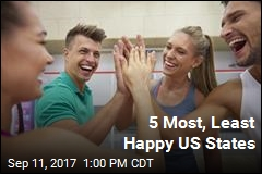 5 Most, Least Happy US States
