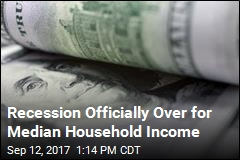 Recession Officially Over for Median Household Income