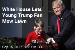 11-Year-Old Lives Dream of Mowing White House Lawn