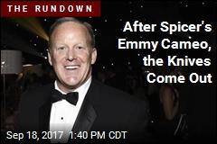 Spicer's Emmy Cameo Was Colbert's Idea