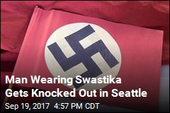 Man Wearing Swastika Gets Knocked Out in Seattle