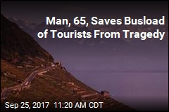 Tourist Saves Bus From Cliff Disaster