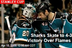 Sharks Skate to 4-3 Victory Over Flames